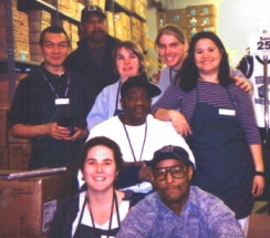 In the bookstore backroom